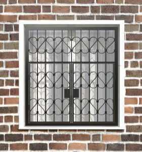 Фото 17 - Распашная решетка на окно РР-0009.
