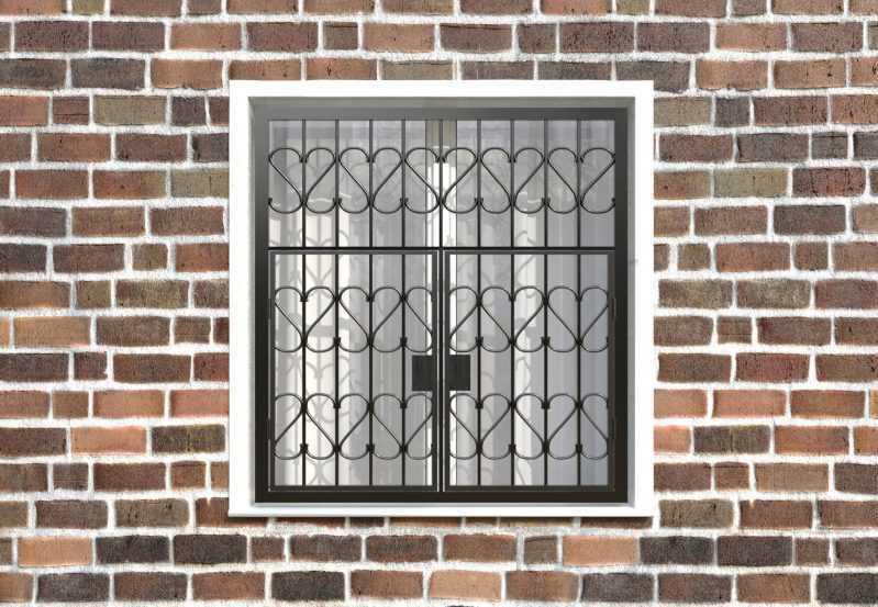 Фото 1 - Распашная решетка на окно РР-0009.