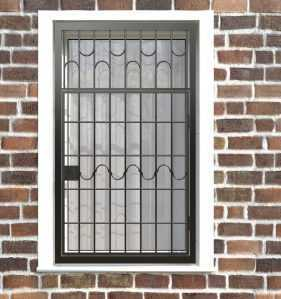 Фото 5 - Распашная решетка на окно РР-0010.