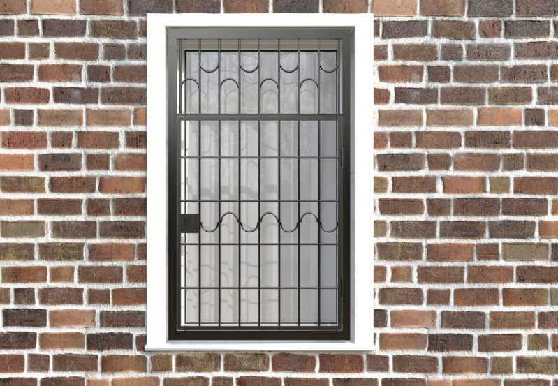Фото 1 - Распашная решетка на окно РР-0010.