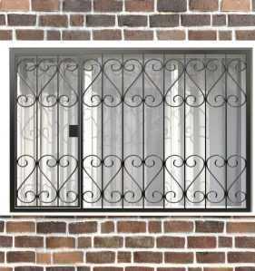 Фото 21 - Распашная решетка на окно РР-0021.