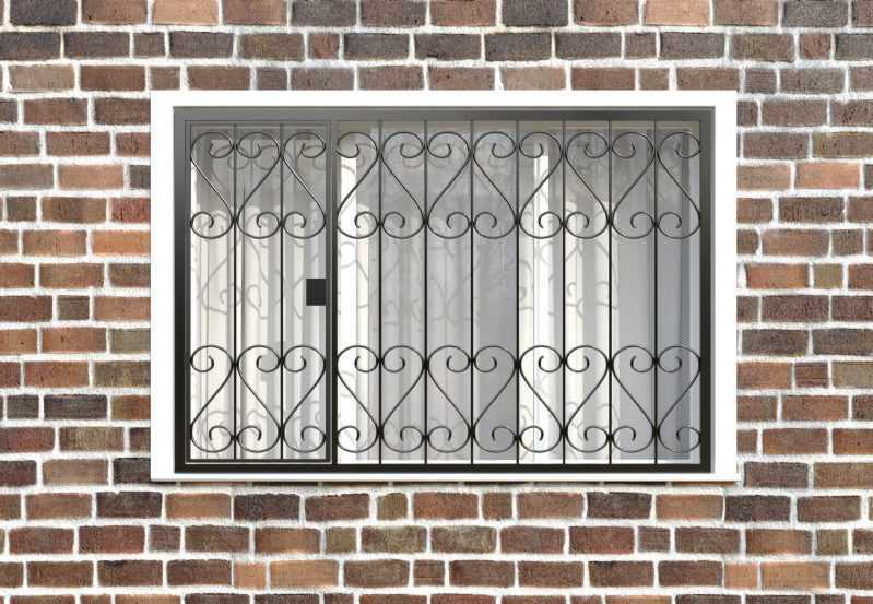 Фото 1 - Распашная решетка на окно РР-0021.