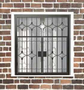 Фото 17 - Распашная решетка на окно РР-0012.