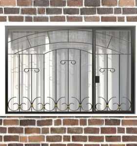 Фото 19 - Распашная решетка на окно РР-0038.