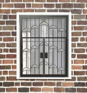 Фото 25 - Распашная решетка на окно РР-0013.