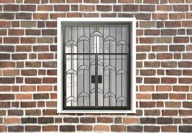 Фото 1 - Распашная решетка на окно РР-0013.
