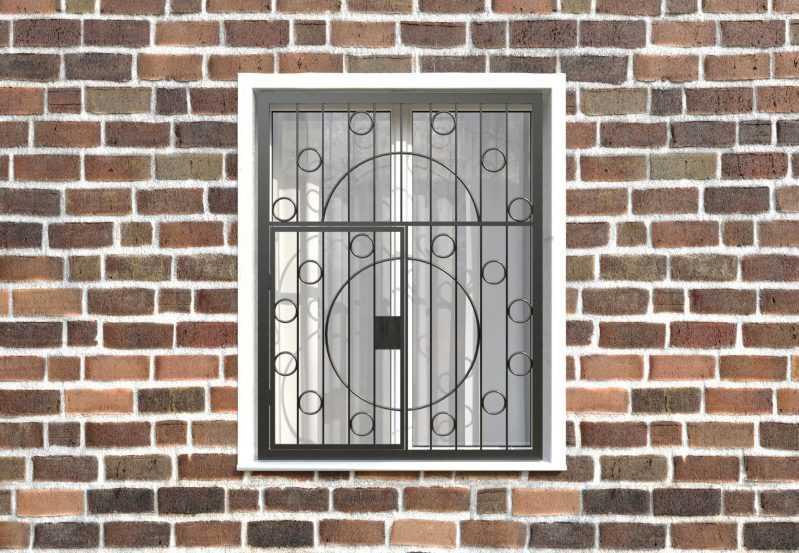 Фото 1 - Распашная решетка на окно РР-0014.