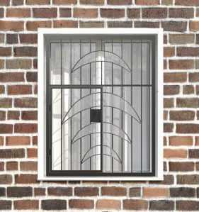 Фото 27 - Распашная решетка на окно РР-0015.