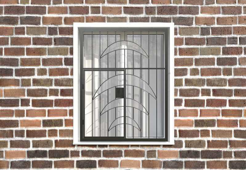Фото 1 - Распашная решетка на окно РР-0015.