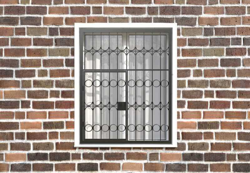 Фото 1 - Распашная решетка на окно РР-0016.