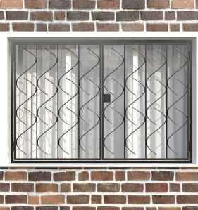 Фото 23 - Распашная решетка на окно РР-0017.