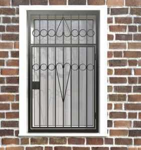 Фото 5 - Распашная решетка на окно РР-0008.