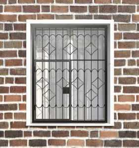 Фото 13 - Распашная решетка на окно РР-0007.