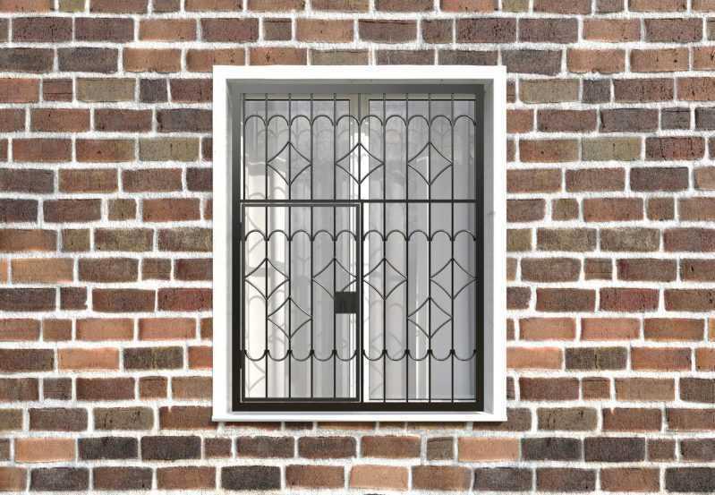 Фото 1 - Распашная решетка на окно РР-0007.