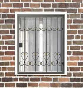 Фото 5 - Распашная решетка на окно РР-0020.