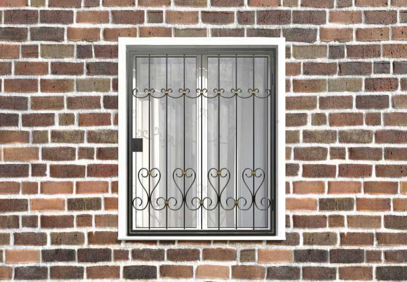 Фото 1 - Распашная решетка на окно РР-0020.
