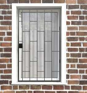 Фото 25 - Распашная решетка на окно РР-0001.