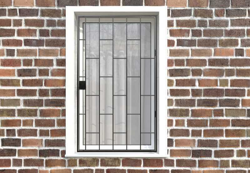 Фото 1 - Распашная решетка на окно РР-0001.