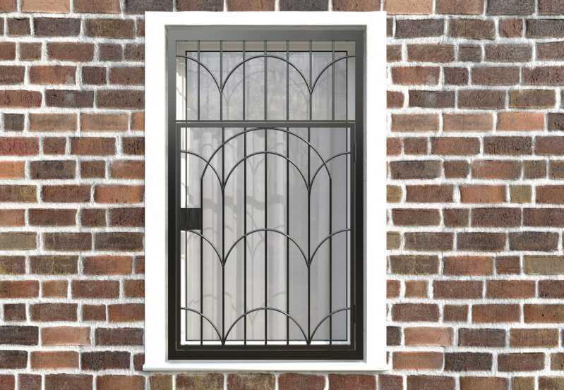 Фото 1 - Распашная решетка на окно РР-0033.