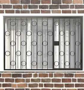 Фото 5 - Распашная решетка на окно РР-0003.
