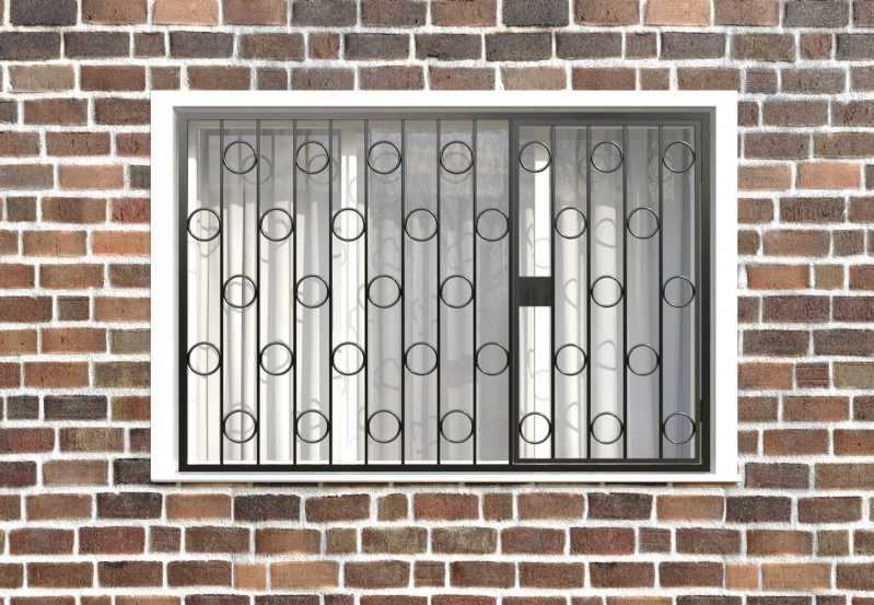Фото 1 - Распашная решетка на окно РР-0003.