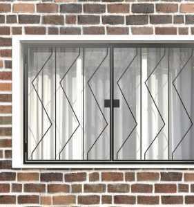 Фото 15 - Распашная решетка на окно РР-0006.