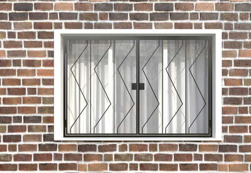Фото 1 - Распашная решетка на окно РР-0006.