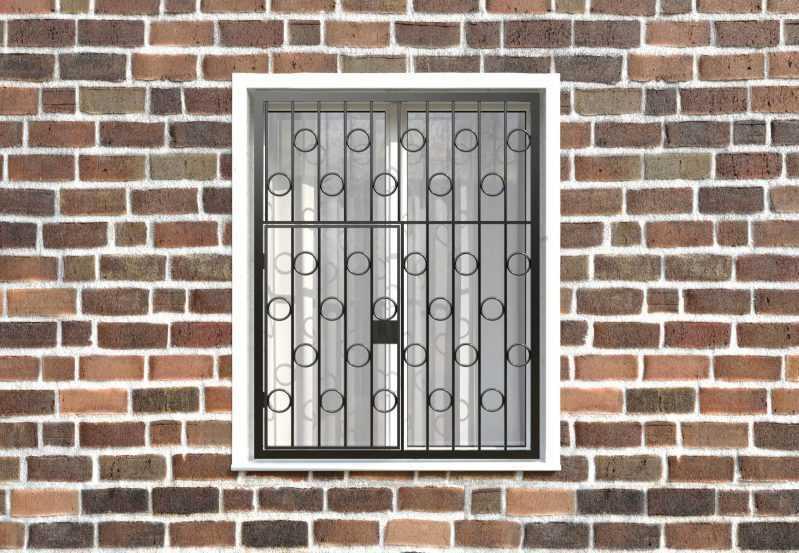 Фото 1 - Распашная решетка на окно РР-0004.