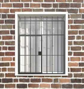 Фото 35 - Распашная решетка на окно РР-0018.