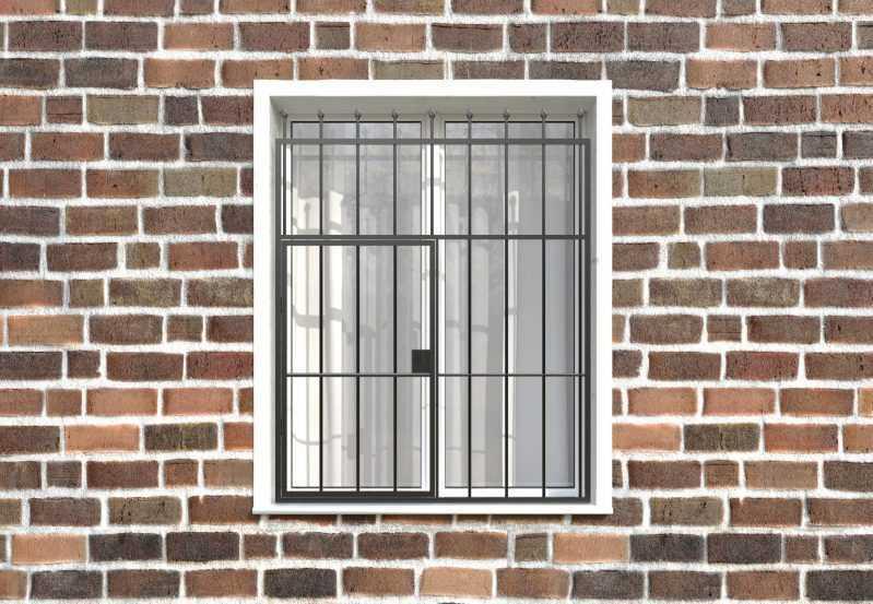 Фото 1 - Распашная решетка на окно РР-0018.
