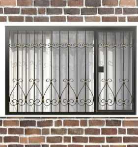 Фото 51 - Распашная решетка на окно РР-0042.