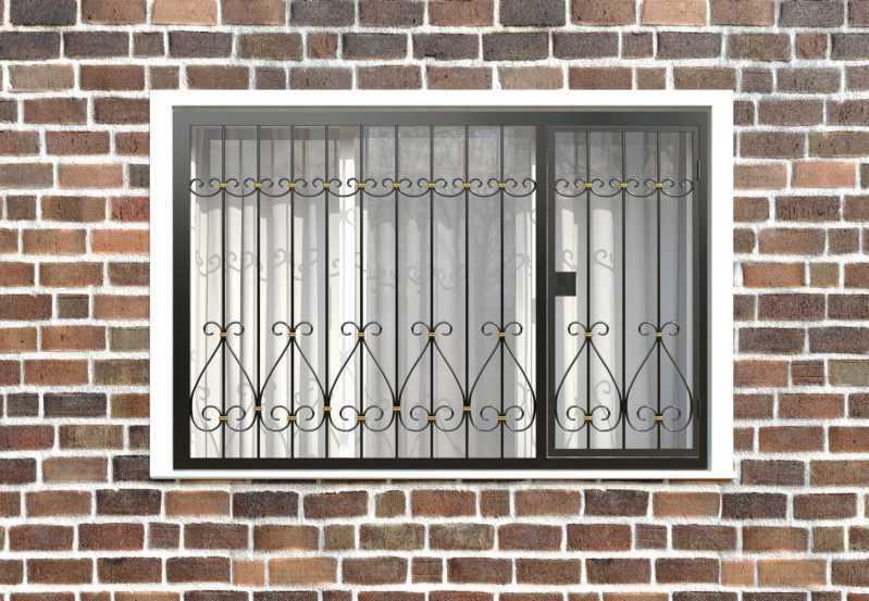 Фото 1 - Распашная решетка на окно РР-0042.