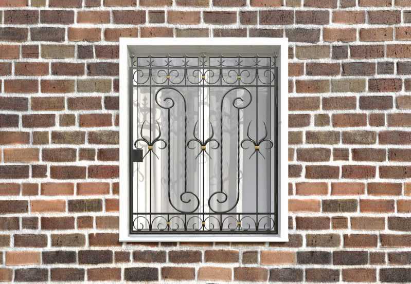 Фото 1 - Распашная решетка на окно РР-0041.
