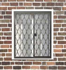 Фото 28 - Распашная решетка на окно РР-0039.