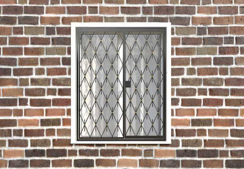 Фото 1 - Распашная решетка на окно РР-0039.