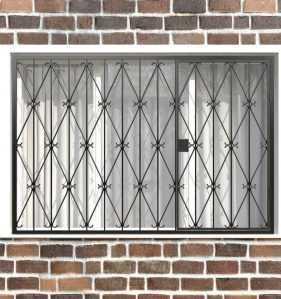 Фото 37 - Распашная решетка на окно РР-0019.
