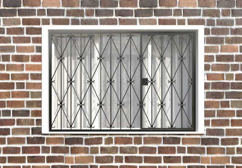 Фото 1 - Распашная решетка на окно РР-0019.