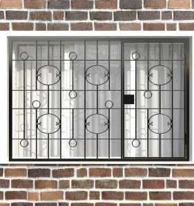 Фото 29 - Распашная решетка на окно РР-0037.