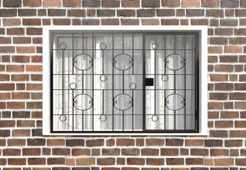 Фото 1 - Распашная решетка на окно РР-0037.