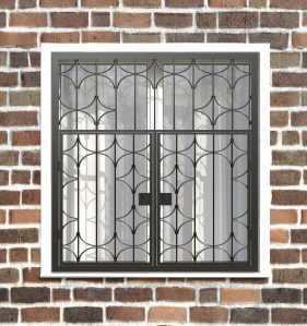 Фото 39 - Распашная решетка на окно РР-0031.
