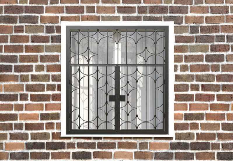 Фото 1 - Распашная решетка на окно РР-0031.