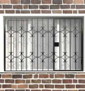 Фото 69 - Распашная решетка на окно РР-0036.