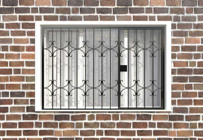 Фото 1 - Распашная решетка на окно РР-0036.