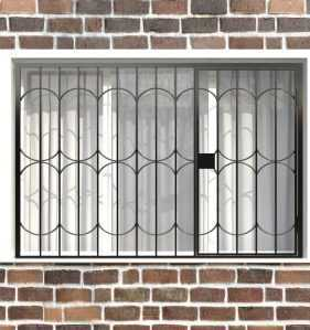 Фото 115 - Распашная решетка на окно РР-0035.