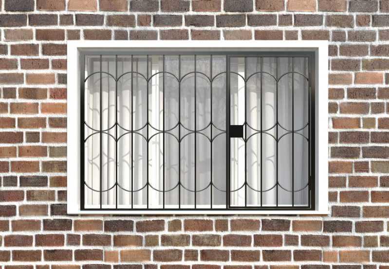 Фото 1 - Распашная решетка на окно РР-0035.