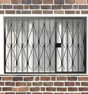 Фото 73 - Распашная решетка на окно РР-0034.