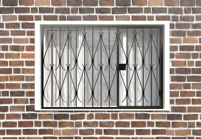 Фото 1 - Распашная решетка на окно РР-0034.
