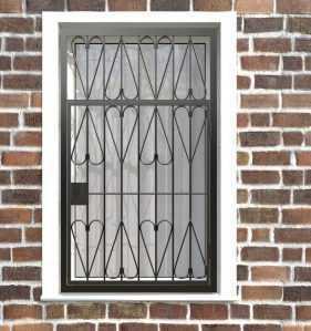 Фото 27 - Распашная решетка на окно РР-0032.