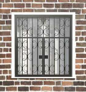 Фото 19 - Распашная решетка на окно РР-0030.