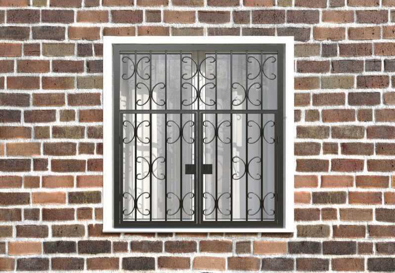 Фото 1 - Распашная решетка на окно РР-0030.